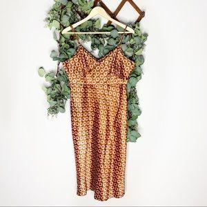 4/$25 Steve and Barry's Brown Floral Slip Dress SM